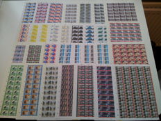Netherlands 1980/1981 - Selection of 31 complete sheets