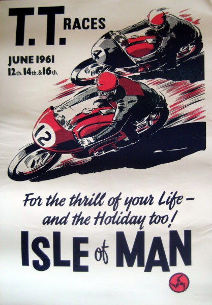 Nostalgic Poster - T.T. Races June 1961 - Isle of Man
