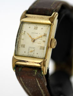 Cyma - Vintage manual winding ladies wristwatch with initials, 1947