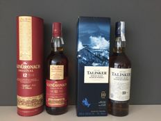 2 bottles - Glendronach 12 (Old label) + Talisker 10