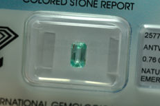 Emerald - 0.76 ct - No Reserve Price