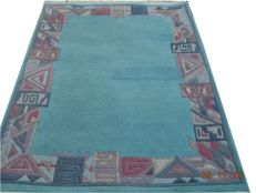 Nepalese very beautiful hand knotted wool carpet 190cmx117cm.