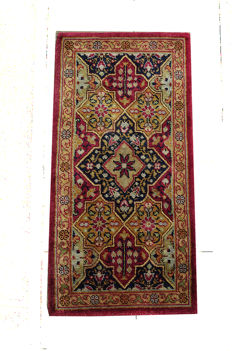 Rare Hand-Knotted  WOOL-ON-WOOL Irish  Donegal RUNNER  190cm x 95cm or 6'3 by 3'1 feet