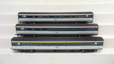 Hornby 00 - R4101/4102/4103A  - Three carriages Mk3 - Mark 3 1st/2nd class buffet car of the GWR Great Western