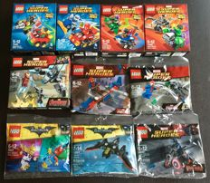 Super Heroes - 10 sets o.a. 76029 + 30607 - Iron Man vs. Ultron + Disco Batman - Tears of Batman
