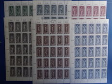 Austria 1968/1987 – Sheets and stamps in complete series.