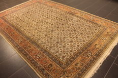 Luxurious hand-knotted oriental carpet, Indo Bidjar Herati, 190 x 280 cm, made in India