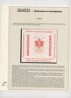 Monaco - 1999 - International Exhibition of Coins and Stamps, including book of exhibition