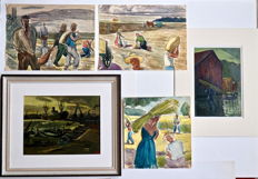 5 x Leopold Faster (1921-1989) - various oil & watercolour
