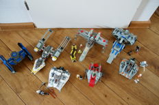 Star Wars - 6 sets incl. 75049 + 7140 - Snowspeeder + X-wing Fighter