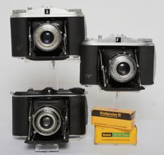 3 Agfa Isolette cameras