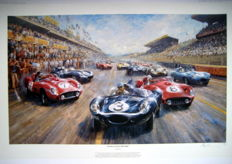 """Four O Clock Thunder/Start Le Mans 1957"" - Jaguar D Type Bueb/Flockhart #3 (Winner)"
