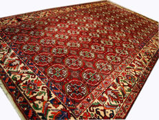 2527 ANTIQUE, authentic, original Bukhara Afghan rug (340 x 200 cm) – With certificate of authenticity from official expert (Galleria Farah 1970).