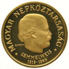 "Hungary – 50 Forint 1968 ""Anniversary Birth of Semmelweis"" – gold"