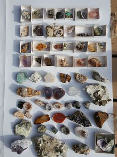 Lot of minerals from an old collection worldwide. - 2 to 17 cm - 5.6 kg (62)