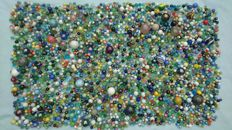 Very large collection of marbles-stone and glass-19.1 kg!