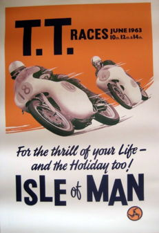 Nostalgic Poster - T.T. Races June 1963 - Isle of Man
