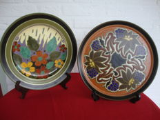 Plateelbakkerij Zuid-Holland - Wall plate and service tray