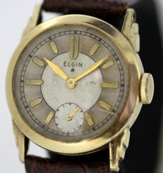 Elgin - 14K Yellow gold plated ladies manual winding wristwatch, ca.1950