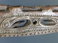 Old top of Paddle - MIDDLE SEPIK (KUPKAIN VILLAGE)  - Papua New Guinea