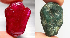 Ruby and Emerald - 68.21 ct (2)
