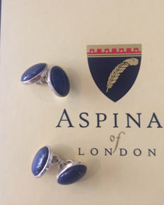 Aspinal Of London 925 cufflinks - Lapis Lazuli