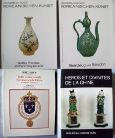 Lot with four publications on Chinese and Korean porcelain, faience and earthenware - 1971/2012