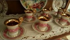 Set of 6 cups and saucers BDR Imperial Manufactory