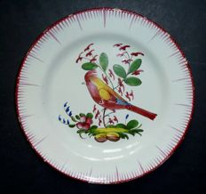 Plate with bird on a branch, high quality, 18th century