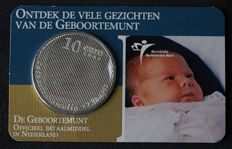 "The Netherlands - 10 Euros 2004 ""Birth coin"" in coin card."