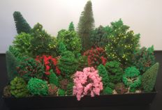 Noch and others - N - Scenery - Trees 75 pieces. Pine trees, deciduous trees and fruit trees.