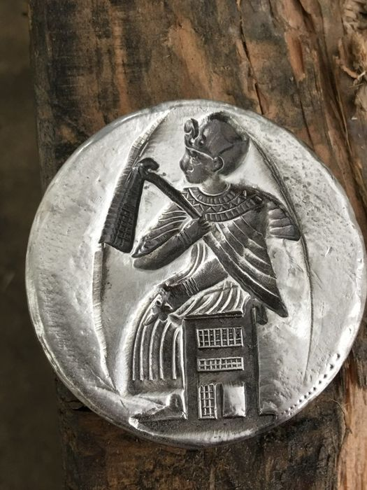 USA - MK Barz 2 oz 999 Silver Pharaoh - antique silver - unique - hand made