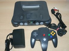 Nintendo N64 complete with 9 games, cables and original N64 controller