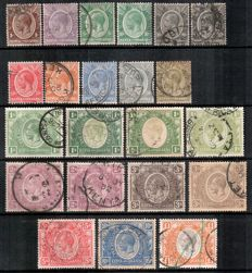 KUT 1904/27 -  small selection on stock cards.