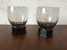 A. D. Copier (Leerdam) - 2x Whisky glasses