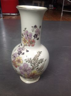 Zsolnay exclusive hand painted porcelain vase