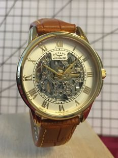 """Rotary """"Skeleton"""" – men's dresswatch – 2016 -- used in mint condition."""
