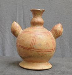 Pre-Columbian Moche pottery jug in the shape of a cactus - 16,5 cm