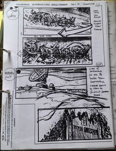 Very Rare James Bond Goldeneye Script and Storyboard