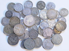 World - Lot of 40 coins 1904/1967 - silver