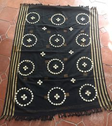 Chang-tribe from Nagaland -Cotton fabric decorated with seashells.
