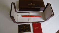 Maurice Lacroix Fountain Pen, Chinese red lacquer and gold