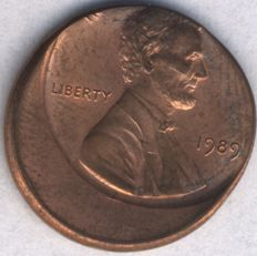 United States - 1 Cent 1989 Lincoln (struck off center)