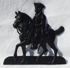 Cast iron bas-relief depicting a horse riding rider - France - 19th century