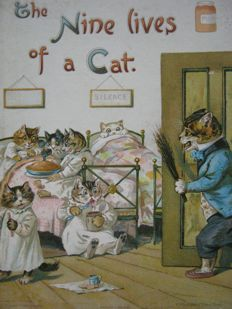 M.A. Hoyer - The Nine Lives of a Cat - [c. 1895]