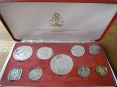 Bahamas – year pack/ year collection 1974 (Proof) 1 cent up to and including 5 dollars – silver.