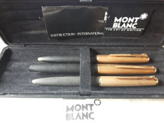 Montblanc fountain pen triple set-224 (14 k point) and two ballpoint's 284-in original box
