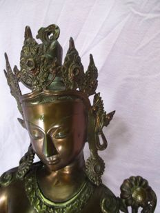 Large bronze statue of a Tara - Tibet - the second half of the 20th century