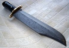 King of Bowie knife - Handmade Damascus Steel Bowie Knife – Buffalo Horn Handle