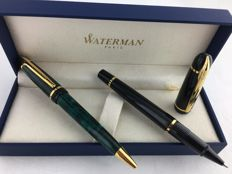 Waterman Phileas fountain pen and roller pen.